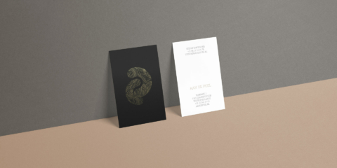 branding aan de poel restaurant design business cards