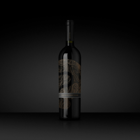 branding aan de poel restaurant wine bottle design packaging